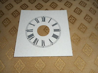 "Alarm Mantle/Shelf Paper Clock Dial-3 1/2"" M/T-Roman-Parchment-Clock Part/ Faces"