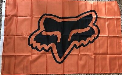 Fox Racing 3x5 Flag Orange Banner Motocross Off Road Moto Dirt bike