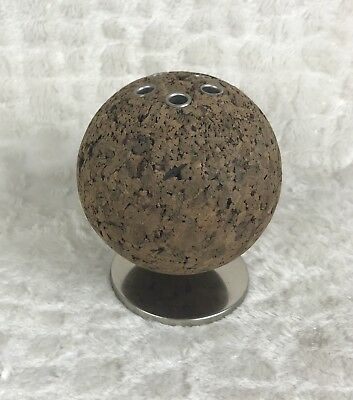 Vintage Park Sherman Cork Ball Desk Pen Pencil Holder Retro MCM Mid Century