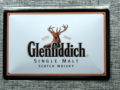 Blechschild, 20x30, Glenfiddich,  scotch whisky, single malt, Alkohol, Neu, OVP