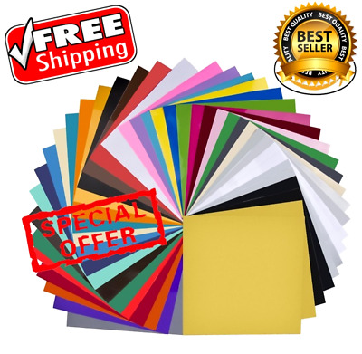 Vinyl Sheets Lot Self Adhesive Sticker Sheet Printable Crafts 12x12 In 40 Pack