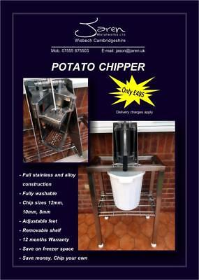 Potato Chipper,French Fries,Slicer,Chip Cutter,Food Preparation,Stainless Steel.