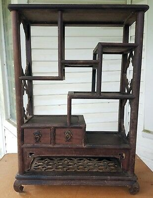 """Rare Chinese Antique Tabletop Display Curio -- 18"""" W by 26"""" T"""