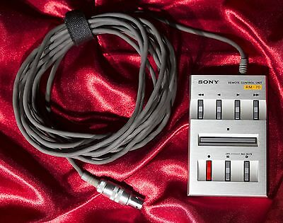 Sony Remote Control Unit RM-70 16-1/2 foot cable controls Sony tape deck works