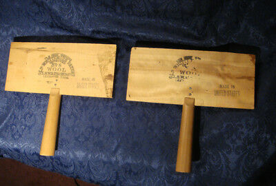 Vintage Old Whittemore #8 Wool Combs Carders Set Of 2