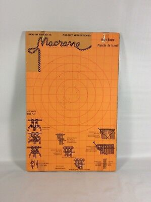 Vintage Macrame Board with Knot Styles and Patterns 12 x 16 in Canadian French