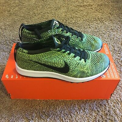d3767a8f550 Nike Flyknit Racer G 9 Golf Shoes 909756 700 Limited Sample Green Cleat  Trainer