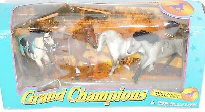 VTG 1996 Grand Champions Mini Horse Collection Set of 4 Empire Toy NRFB