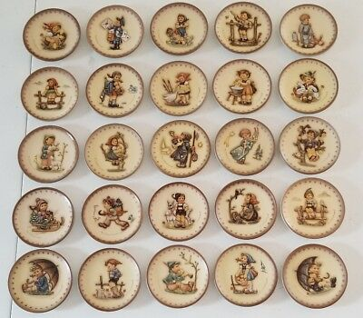 Complete Hummel Miniature Annual Plate Collection 971-995 (25 pcs.) MIB