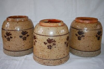 Nicholas Mosse, Ireland Rare Collectible Glazed Stoneware Huge Heavy Jars x 3
