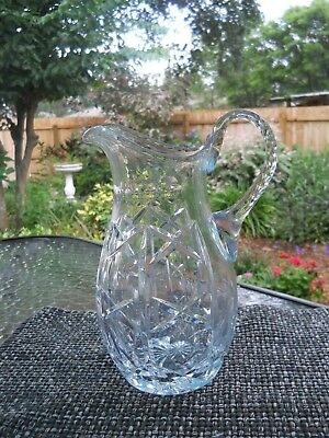 Large Tall Cut crystal Pitcher