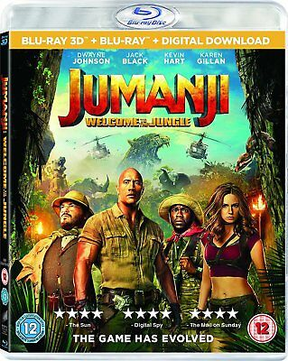 Jumanji 2 - Welcome to the Jungle [Blu-ray 3D + Blu-ray] New and Factory Sealed!
