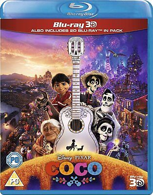 Coco [Blu-ray 3D + Blu-ray] New and Factory Sealed!!