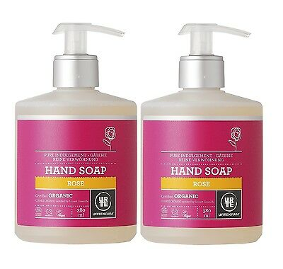 Urtekram Organic Pure Indulgement Rose Hand Soap 2x380ml- Vegan