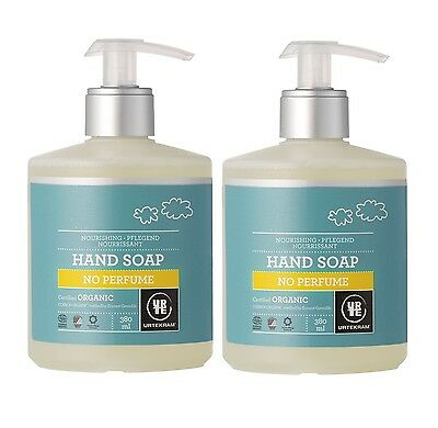 Urtekram Organic Nourishing No Perfume Hand Soap 2x380ml- Vegan