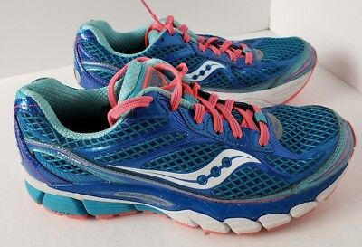 d34b555b3909 WOMEN S SAUCONY RIDE 7 Athletic Running Shoes Size US 7.5 Blue Great ...