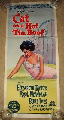 Cat On A Hot Tin Roof Movie Poster Insert 14inx36in 36cmx92cm Replica
