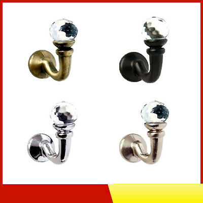 Speedy Crystal Curtain Tie Back Wall Hooks - Ideal For Designer Fabric Curtains