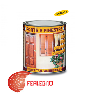 750 Ml Paint Clear Odorless Waxed/satin For Doors And Windows Veleca