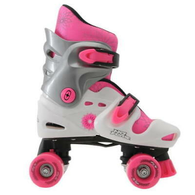 No Fear Quad Skates Rollers Wheeled Girls Kids Junior Trainers Skate Shoes New