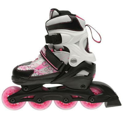 No Fear Spirit Skates Rollers Wheeled Girls Kids Junior Trainers Skate Shoes New