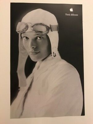 Vintage Apple Think Different Poster 11 x 17 - Amelia Earhart