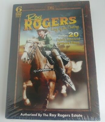 Roy Rogers: King of the Cowboys (DVD, 2010, 6-Disc Set) NEW OEM