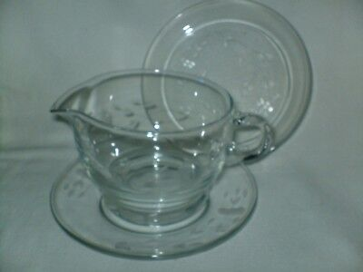 Princess House Heritage Hand Blown Crystal Sauce Heavy Boat Gravy ONLY