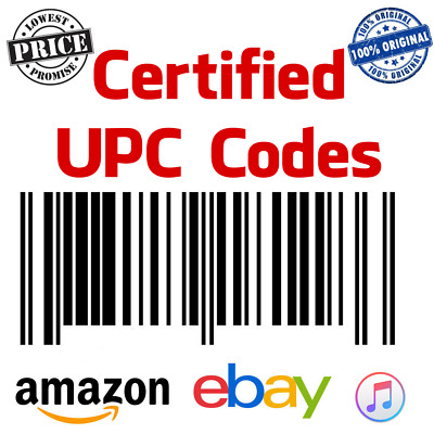 500 UPC Codes Bar Codes For Listing On any eCommerce Marketplace !