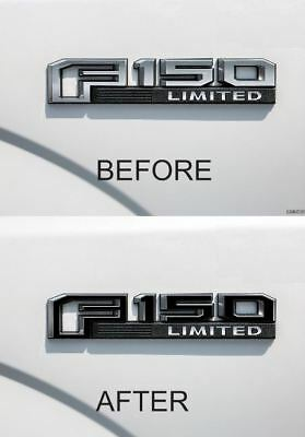 Ford F-150 F150 2015-2016-2017-2018 Emblem decal overlay sticker set (3)