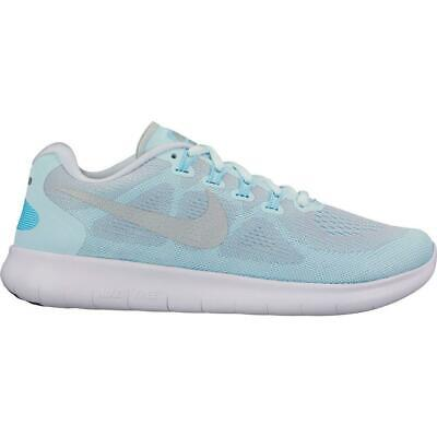 43a6294311e1a WOMENS NIKE FREE RN 2017 Glacier Blue Running Trainers 880840 402 ...
