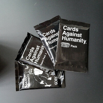 4Pcs Cards Against Science Pack Reject Pack2 Expansion Pack Sealed For Party