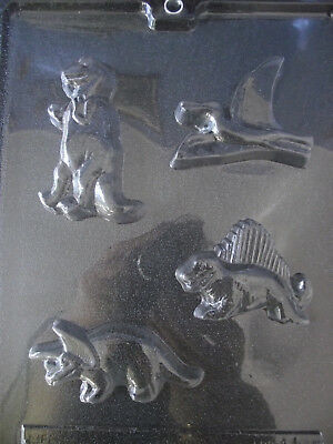 Set of 4 DINOSAUR Moulds - CHOCOLATE, PLASTER #A104