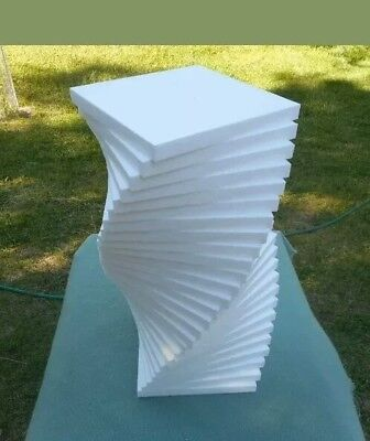 "20 pcs. Styrofoam sheets 8"" x 8"" Square x 1"" Thick"