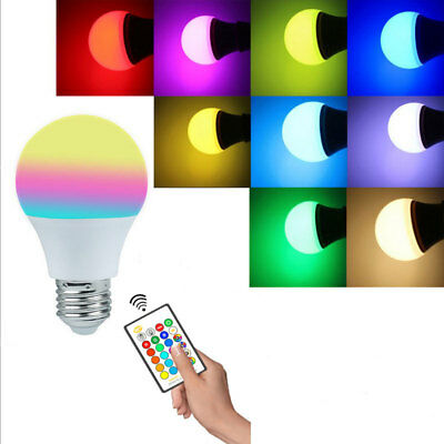 Dimmable Colorful Bulb E27 RGB W/WW LED 5W 10W 15W Lamp Light+IR Controller