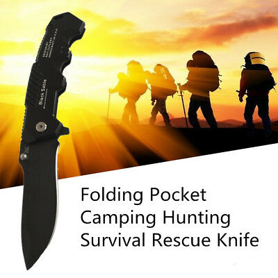 Outdoor Camping Folding Stainless steel Knife Hunting Survival Pocket Blade ig1