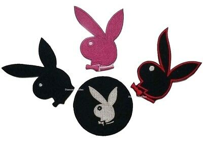 PLAYBOY BUNNY PINK WHITE Iron Sew On Embroidery Cloth Patch Badge Appplique