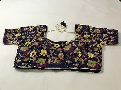 New Readymade Multi Color Embroidery Work Saree Blouse Back Open Size 36