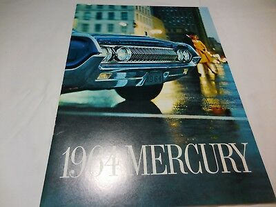Original 1964 Mercury Deluxe Full-line brochure 20 page catalog