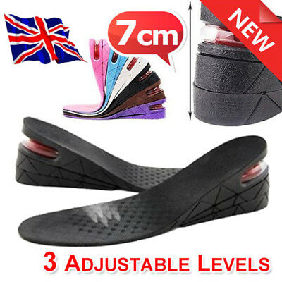 Unisex 5cm Air Bubble Cushion Height Increase Shoe Insoles Pair Taller Heel Lift