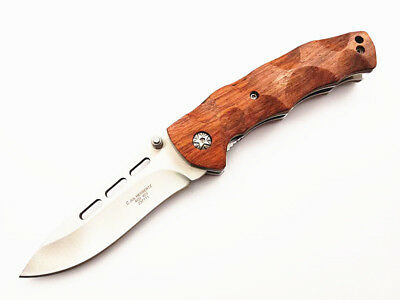 Beautiful Natural Red Rose Cocobolo Wood Handle Pocket Folding Knife Top Quality