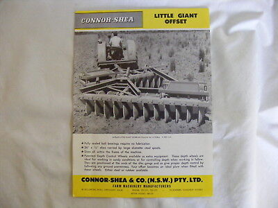 CONNOR SHEA . Little Giant Offset . Farm Machinery Manufacturers Sales Brochure
