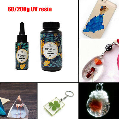 60/200g DIY UV Ultraviolet Resin Curing Solar Cure Sunlight Activated Hard BK