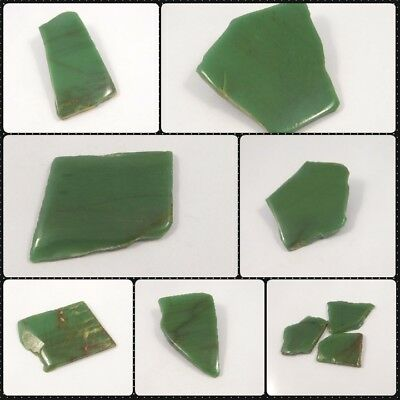 100%  Natural One Side Polished Green Jade Slab Minerals ANG11012-11033