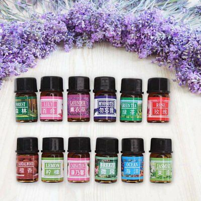 12 Pack/Set Essential Oil Pure Natural Therapeutic Grade Oils Lot 3 ml