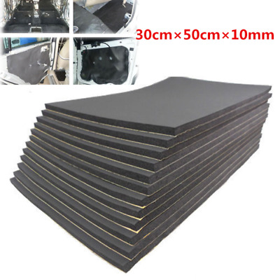 12 Sheets 10mm Car Sound Proofing Deadening Insulation Closed Cell Foam Black UK