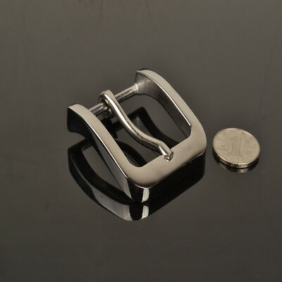Stainless Steel Pin Buckle for Men Leather Belt Replacement Snap On 40mm Silver