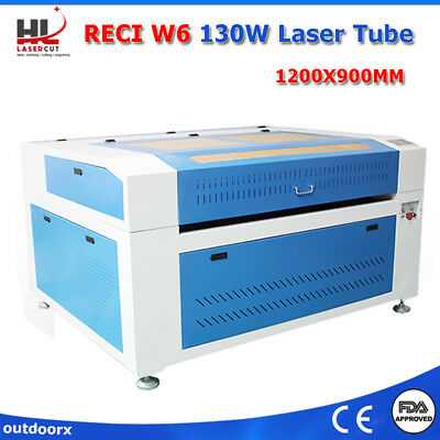 130W Laser Cutter Engrave Machine & Auto Focus & Linear Guide & CW5200 Chiller