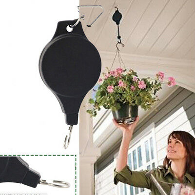 Hanging Basket Pull Down Hanger Easy Watering/Planting/Dead Heading Pulley Smart