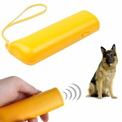 Dog Train Repeller Control LED Trainer Ultrasonic Anti Bark Device Stop Barking